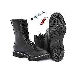AOS-Outdoor Springerstiefel + original BW Schuhpflegemittel Schlüsselanhänger 41