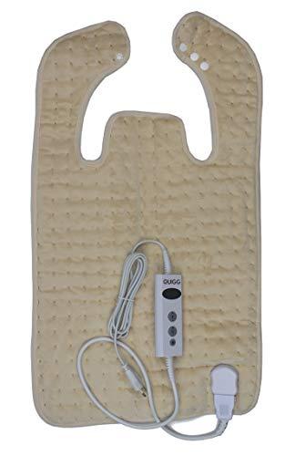 Heizkissen Rücken-/ Nackenheizkissen Heizdecke Wärmekissen 10 Temperaturstufen (Beige)