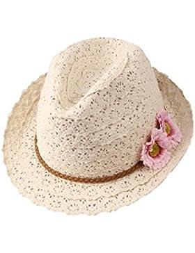 VI. yo Fashion Lady Sun sombrero elegante gorra de paja playa amplia ala Flexible con lazo