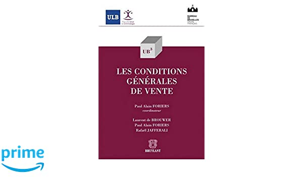 Amazon Fr Les Conditions Generales De Vente Paul Alain