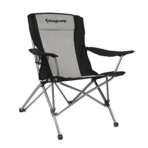 KingCamp | Silla de camping plegable, tamaño grande con apoyabrazos y bolsa...