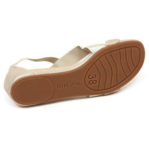 C9150 sandalo donna UNISA ALENA scarpa platino sandal shoe woman Platino