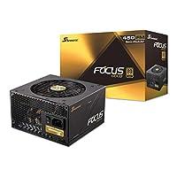 Seasonic FOCUS Plus 550 Gold SSR-550FX 550W 80+ Gold ATX12V & EPS12V Full Modular 120mm FDB Fan 10 Year Warranty Compact 140 mm 450W 1