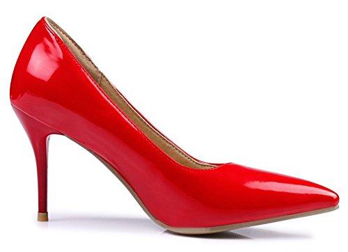 Aisun Femme Elégant Talon Haut Pointues Soirée Escarpins Rouge