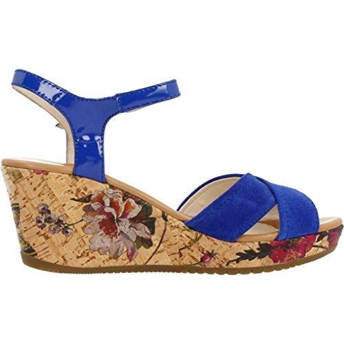 Kick Footwear - Donna diamante cuneo slip on dressy parti della piattaforma sandali - UK7 / EU40, Oro