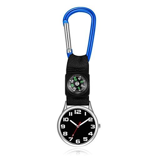 XeibD Karabiner Krankenschwester Uhr Taschenuhren Legierung Gürtel Haken Clip Tunika (Royal Blue)