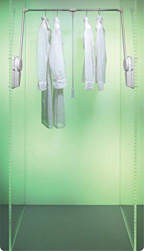 RONIN FURNITURE FITTINGS® Kleiderlift Super 12-20KG alufarben für Breiten 750 - 1150 mm (Scharnier 1150)
