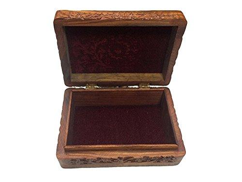 e Schnitzarbeit Rechteck Box, Aufbewahrungsbehälter, Vintage-Box, Antik Box, Deko-Schachteln, Schmuck Aufbewahrungsbox 8 X 5
