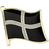 Patch Nation Bandera de Cornualles cornouaillais Metall Pin Badge