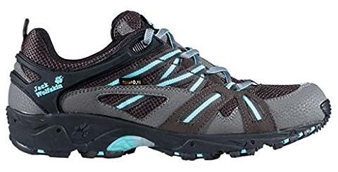 Jack Wolfskin Schuh Accelerate Frauen, schwarz/grau/blau, 37,5