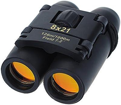 Topop 8x 21compacto prismáticos plegables telescopio con paño limpio y funda de transporte para la observación de aves, viajes, exteriores, Turismo, escalada