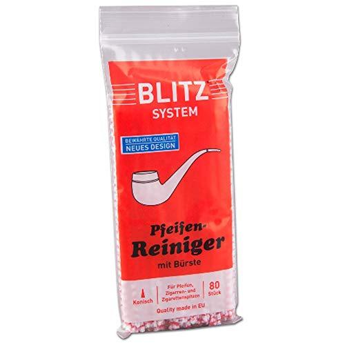 Pfeifenreiniger Blitz rot-weiß 10 x 80er Beutel, Gesamt 800 Stück, Nr. 3514
