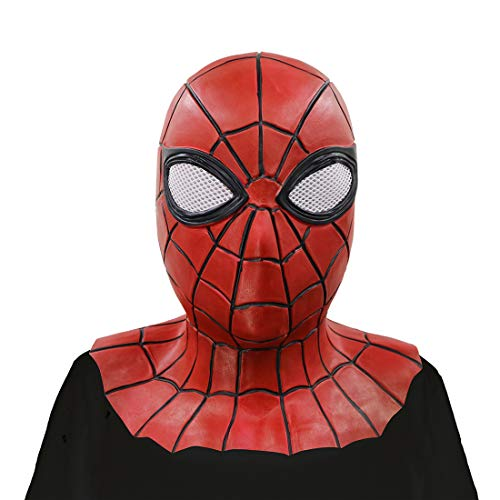 WYJSS Halloween Maske Spiderman Terror Venom Requisiten,Red-OneSize