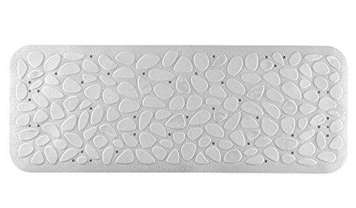 Wohnideenshop Badewanneneinlage PIEDRAS 892/10 in weiß 36cm breit x 95cm lang und 5 verschiedene Farben zur Auswahl
