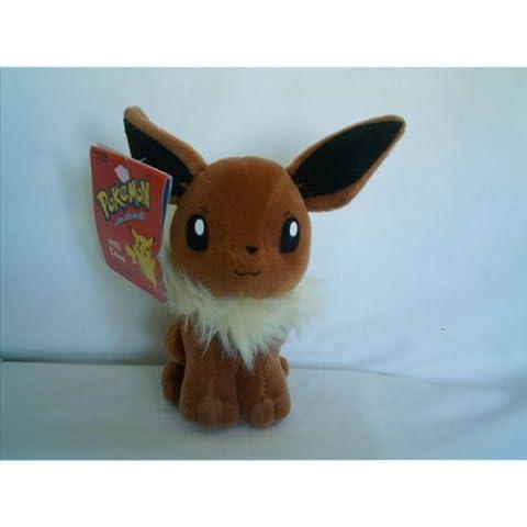 Pokemon Eevee Beanie felpa suave juguete 6pulgadas de alta