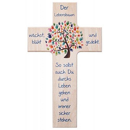 Kinder- Holzkreuz: 'Lebensbaum' 20 cm