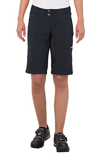 VAUDE Damen Hose Women's Tamaro Shorts, Black, 40, 05487 (Damen Bike-shorts)