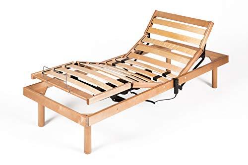 *Mobili Fiver, Französisches Bett elektrischer Holz Lattenrost 200 x 120 x 26 cm*