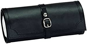 Black Bonded Leather Jewellery Roll