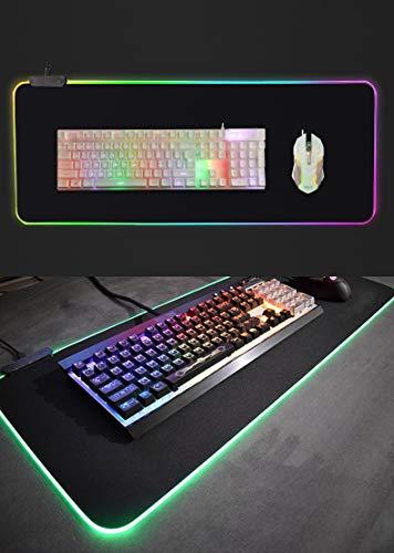 Mauspad 900X400*3Mm Personalisierte Gaming-Mauspad Übergroße Leuchtende Led Schnell Anti-Rutsch-Mousepad-Tastatur Verdicken Bunt Für Pc-Computer-Pads