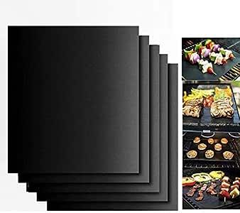 cdsnxore BBQ Grillmatte Teflon Grillmatten 4er Set 260/°C Antihaftbeschichtung und Einfach zu s/äubern Wiederverwendbar 330 400 0.2mm