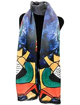 Silk Fedora Fular de Seda 175x50cm. Estampado Picasso