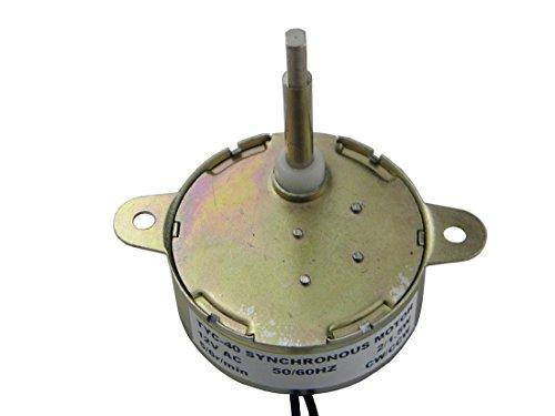 1/2 Motor (Flache Wellen Getriebemotor TYC-40 AC 12V (Wechselstrom) 5RPM CW/CCW Drehmoment 0.5Kg.cm 1W Power 35mm Schaftlange)