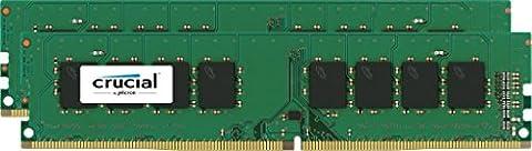 Crucial 32GB Kit (16GBx2) DDR4 2400 MT/s (PC4-19200) DR x8 DIMM 288-Pin - CT2K16G4DFD824A
