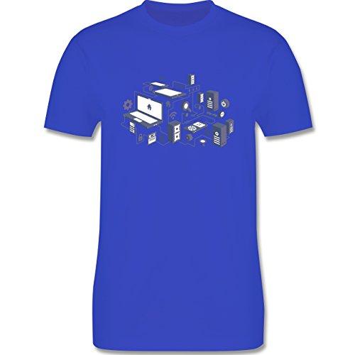 Nerds & Geeks - Netzwerk Design - Herren Premium T-Shirt Royalblau