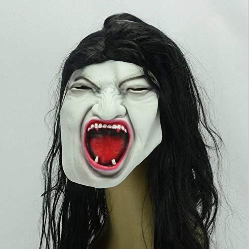 Leicht Scorpion Kostüm - AIYA Ghost Festival Female Scorpion Vampire Female Ghost Horror Blutiges weißes Gesicht Brünette Ganzkörper-Latexmaske