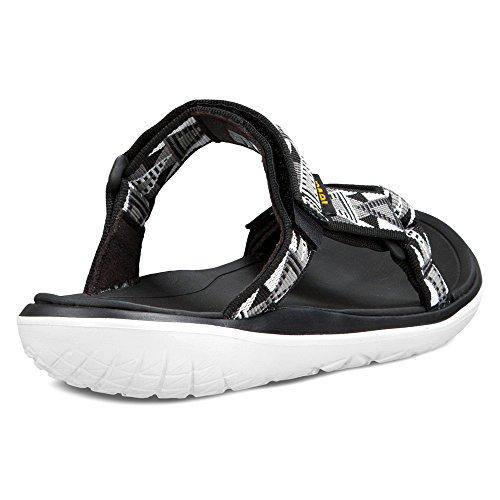 Teva Terra-float Lexi Ws, Sandales En Mosaïque Noire Pour Femme