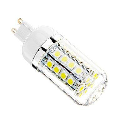 YangR* G9 5W 36x5050SMD 480LM 6000-6500K Cool White LED Mais(n) Glühlampe(AC 110-130V) Dusk To Dawn Glühbirne Adapter