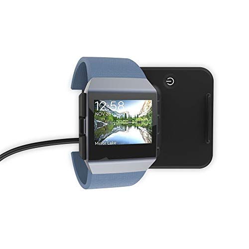 Fitbit Ionic Charger, 2 in 1 Ladestation für Fitbit Blaze/Universal Phones/Tablets (Schwarz)