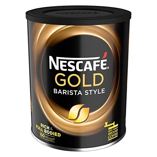 NESCAFÉ GOLD BLEND Barista Style Instant Coffee Tin, 180 g (Pack of 4)