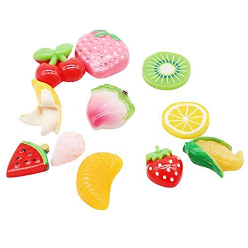 Dapei Stress Spielzeug DIY Bunte frult Patten Dekoration für hausgemachte schleim Machen Handwerk gutes Geschenk für Kinder
