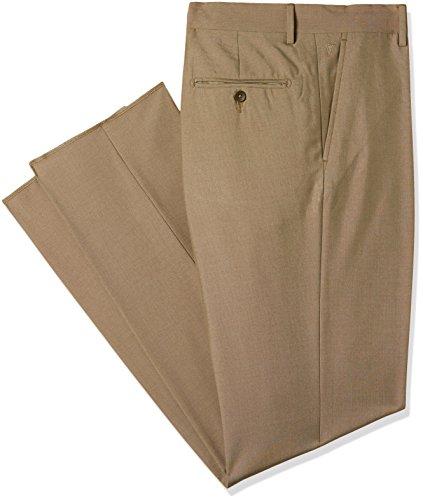 Van Heusen Men's Skinny Fit Synthetic Formal Trousers (VHTF317M01323_Medium Khaki_38W x 34L)