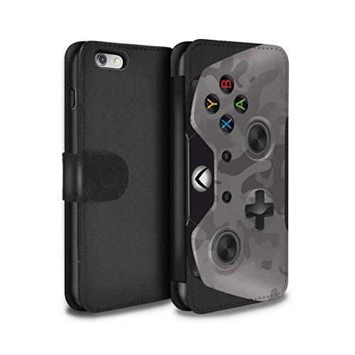 Stuff4 Coque/Etui/Housse Cuir PU Case/Cover pour Apple iPhone SE / Camouflage Vert Design / Jeu Vidéo/Xbox One Collection Urban Camouflage