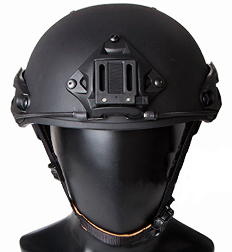 AIRSOFT AF OPS CORE TACTICAL HELMET BLACK SWAT AIRFRAMES RAIL