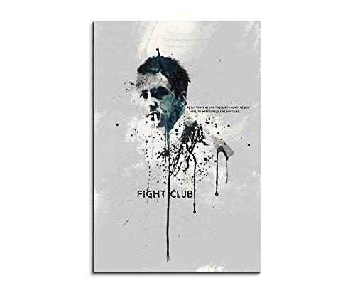 Paul Sinus Art Fight Club 90x 60cm Keilrahmenbild Kunstbild Aquarell Art Wandbild auf Leinwand fertig gerahmt Original Unikat - Coole Film Poster