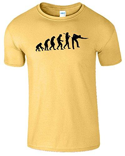 Evolution Of Snooker Herren T Shirt Schwimmbad Komisch Spiel Gänseblümchen / Schwarz Design