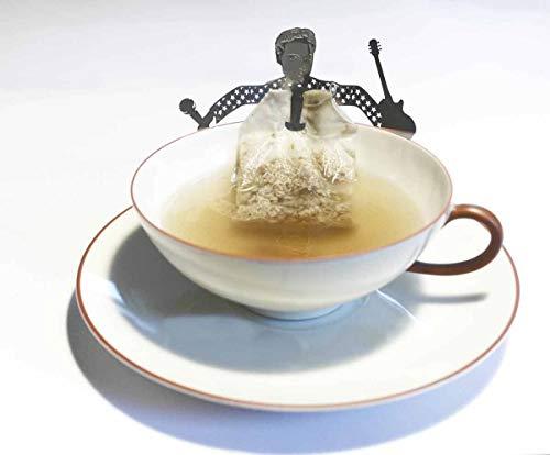 13gramm Elvis Teebeutel-Halter Souvenir Geschenk, 3D Edelstahl Figur zum Tee Trinken - Elvis-souvenir