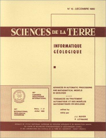 Sciences de la Terre. Tendances du traitement automatique des modèles