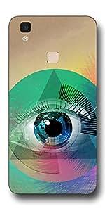 SEI HEI KI Designer Back Cover For Vivo V3 Max - Multicolor