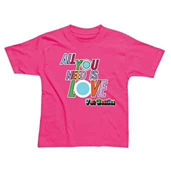 Beatles T Shirt Cerise - All you need is love S