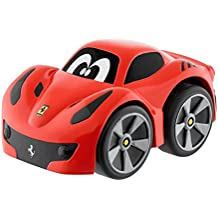 Chicco - Mini vehículo Ferrari F12 TDF Turbo Touch, con carga por retroceso, color
