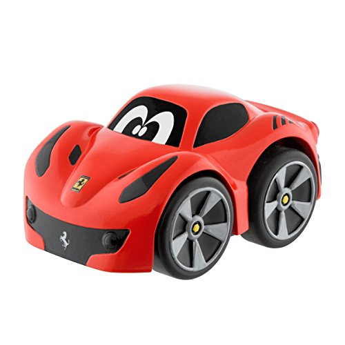 Chicco - Mini vehículo Ferrari F12 TDF Turbo Touch, con carga por retroceso, color rojo