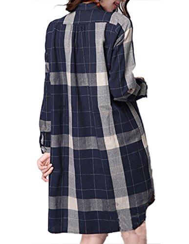 P Ammy Fashion Damen Jumper Kleid Blau - Blau