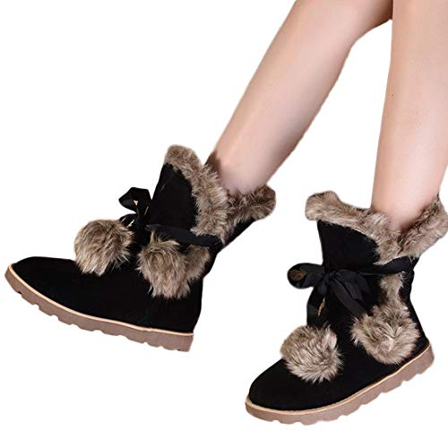 Preisvergleich Produktbild TianWlio Stiefeletten Boots Stiefel Schuhe Damen Herren Herbst Winter Schnee Flache Stiefeletten Zipper Wasserdicht Draussen Warmer Stiefel Worker Boots Gefüttert Bequeme Schuhe