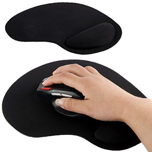 Preisvergleich Produktbild Mauspad Silikon Gel Polster Handgelenk Stütze Mouse Pad Ergonomisch Schwarz