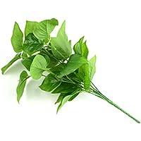 Ndier 30cm Simulación El Verde adornan el árbol de la Vida como la Forma de Accesorios Paisaje Arte Hecho a Mano Verde Artificial